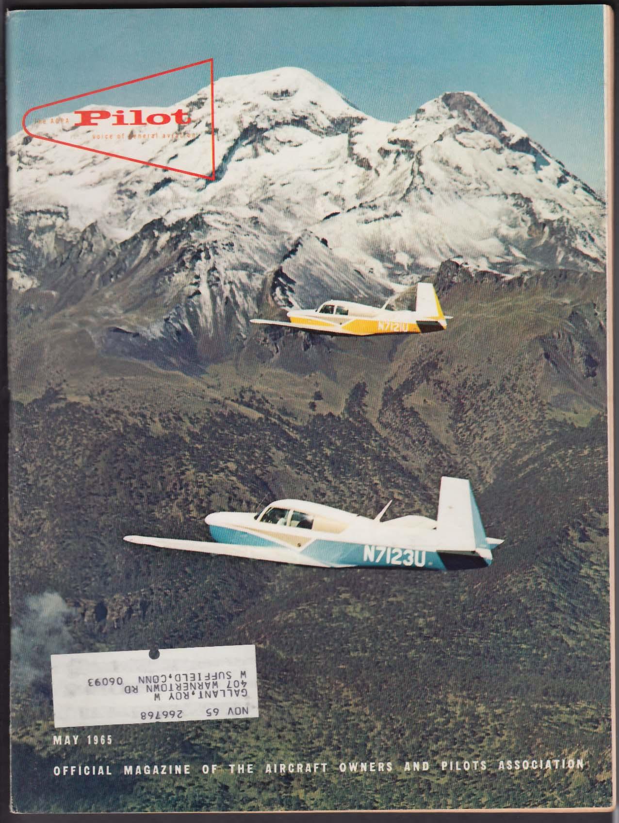 AOPA PILOT Model 18-A Gyroplane Cordillera Vilcabamba George E Moore 5 1965