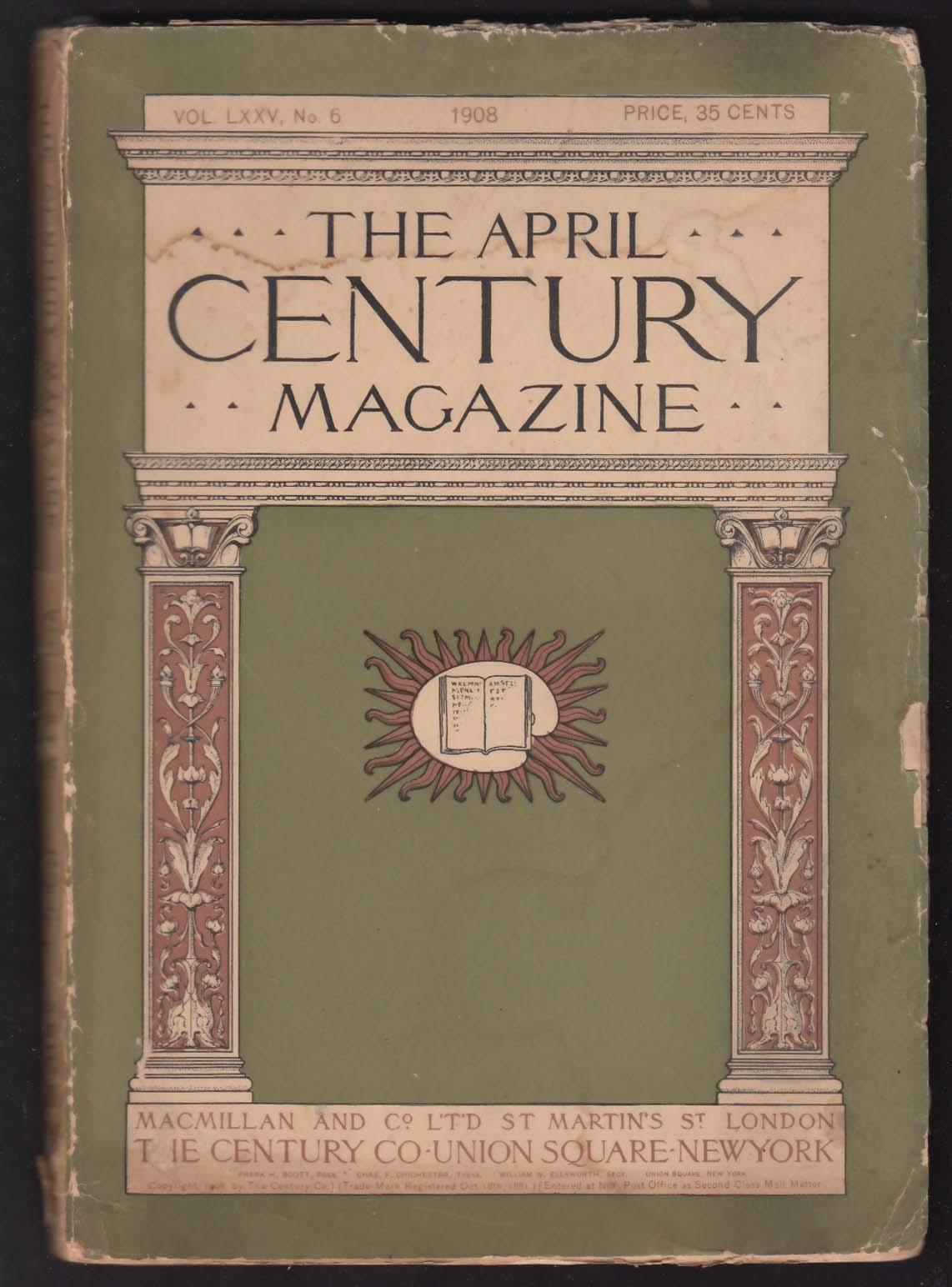 CENTURY MAGAZINE Western Railroad Gambling Mars Percival Lowell Whistler 4 1908
