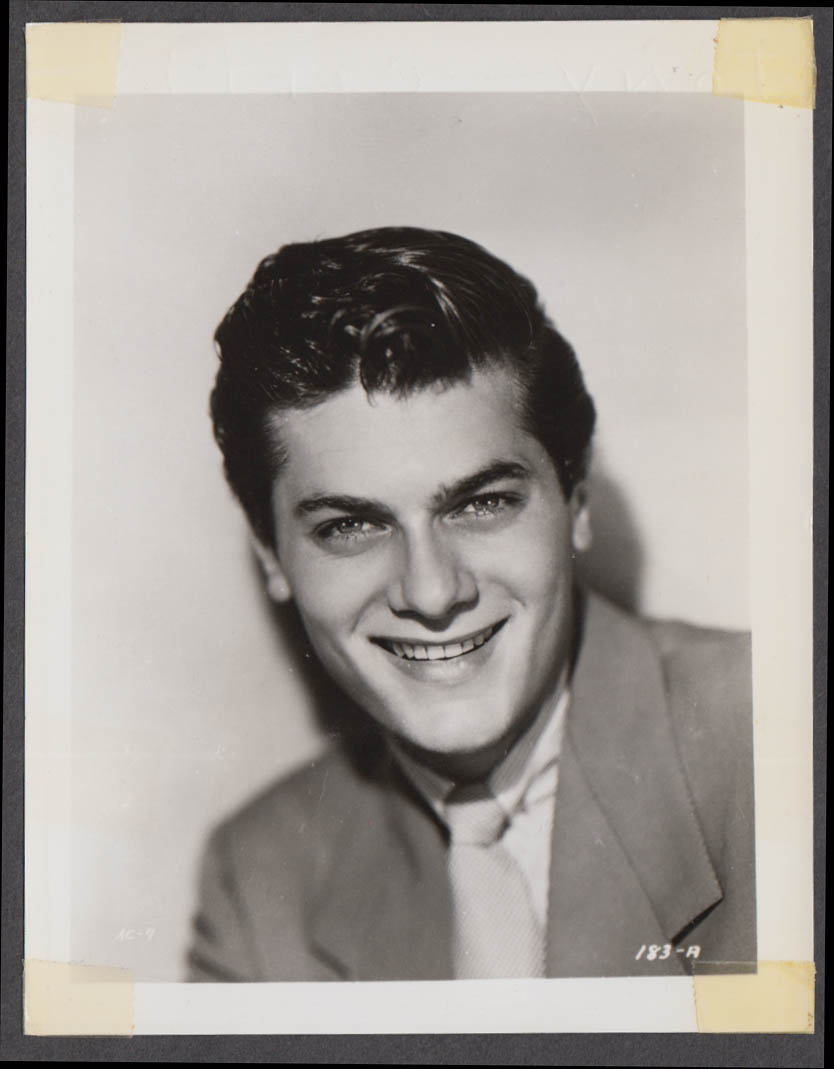 Actor Tony Curtis fan club snapshot 1950s