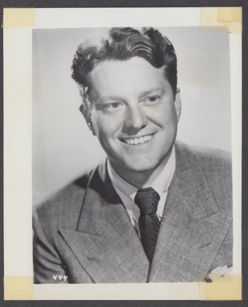Actor Michael O'Shea fan club snapshot 1950s