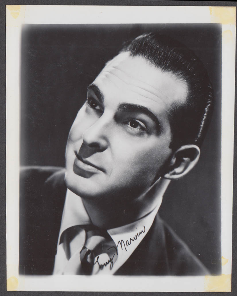 Singer & CBS Radio Announcer Tony Marvin fan club snapshot 1950s