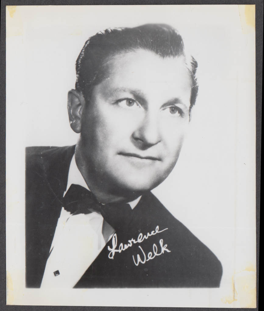 Television bandleader Lawrence Welk fan club snapshot 1950s