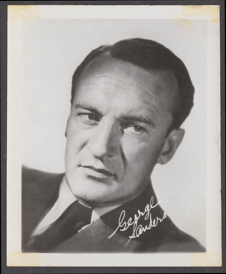 Screen actor George Sanders fan club snapshot 1950s