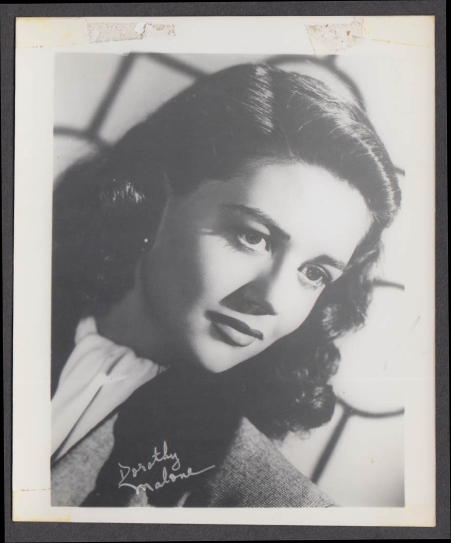Screen actress Dorothy Malone fan club snapshot 1950s
