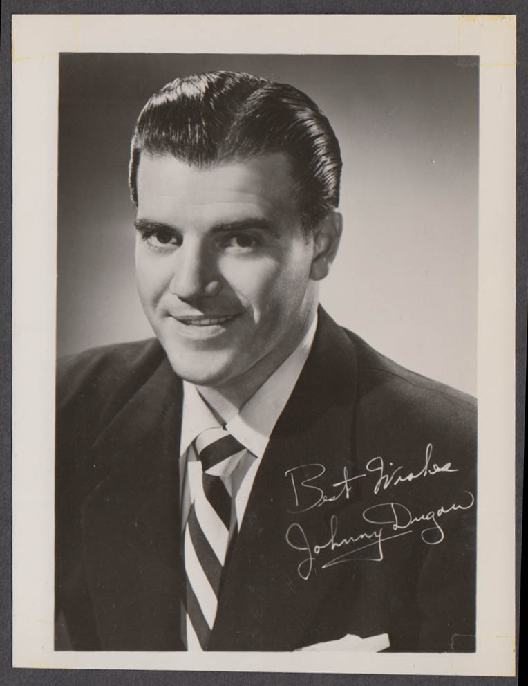Singer, TV & Radio Personality Johnny Dugan fan club snapshot 1950s