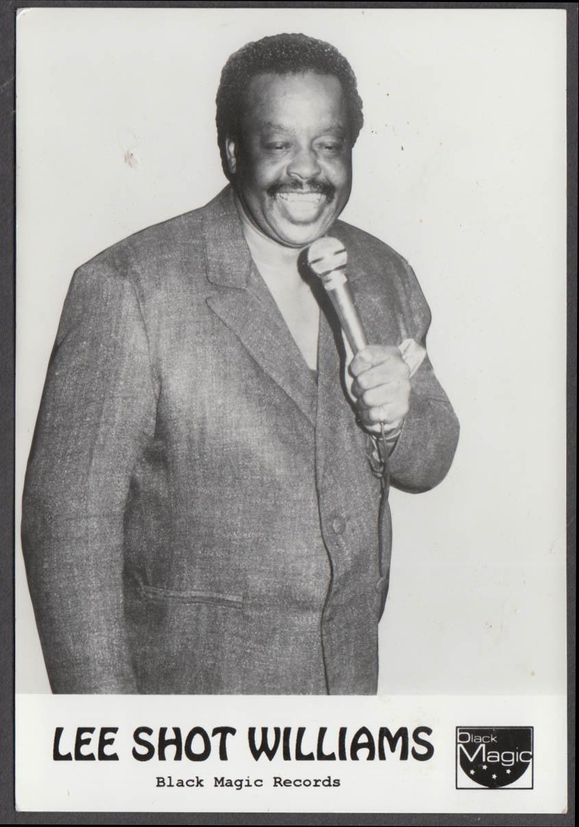 Image for Black Magic Records Blues Singer Lee Shot Williams RPPC ca 1980s