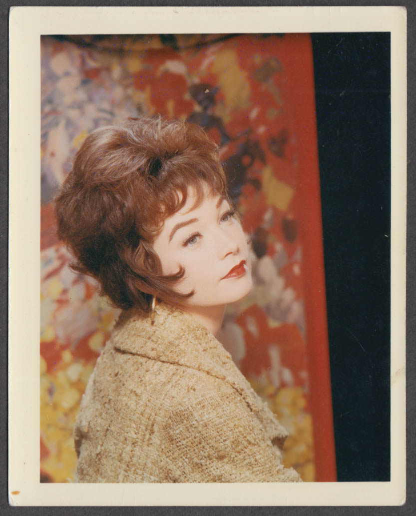 Actress Shirley MAcLAine fan club color snapshot 1960s