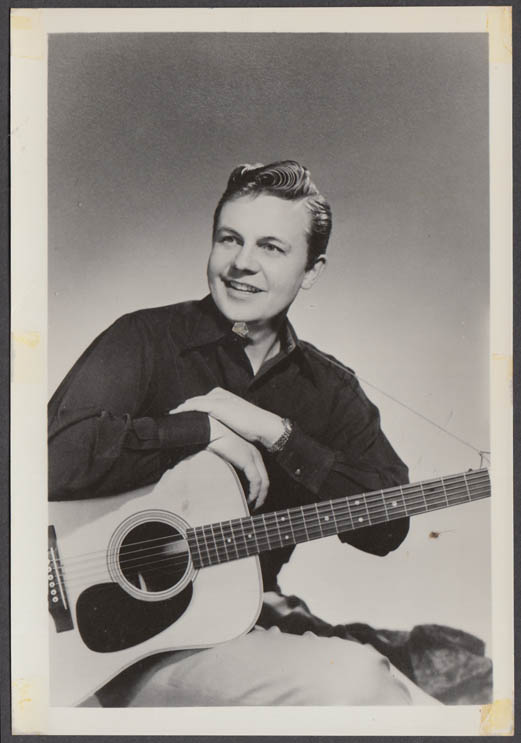 WLW Radio Country singer  Rudy Hansen fan club snapshot 1950s