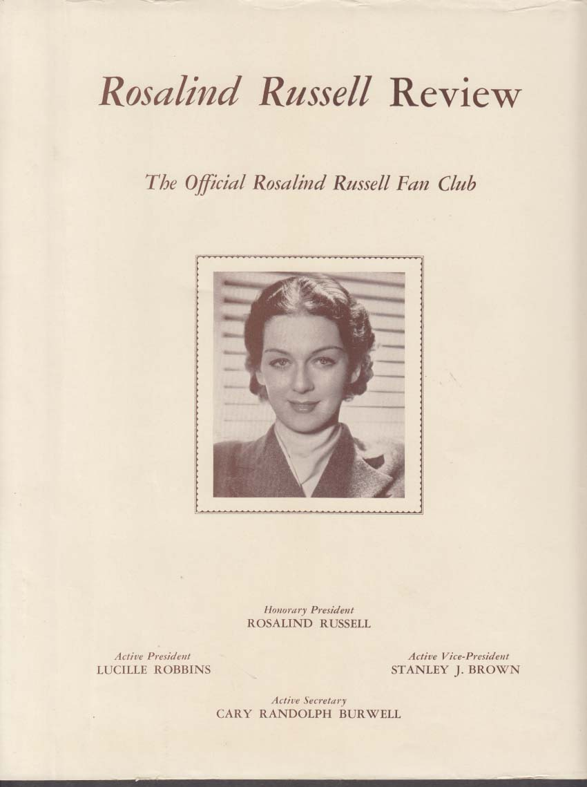Rosalind Russell Fan Club Review 9 1938 issue
