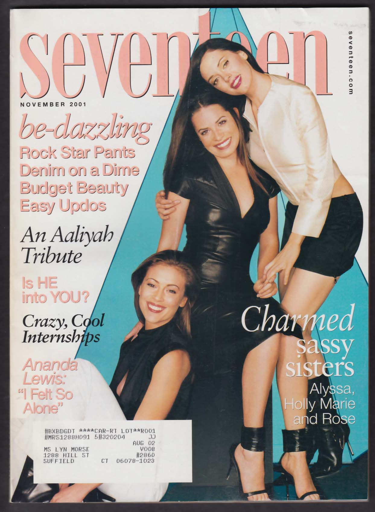 SEVENTEEN Alyssa Milano Holly Marie Combs Rose McGowan Aaliyah 11 2001