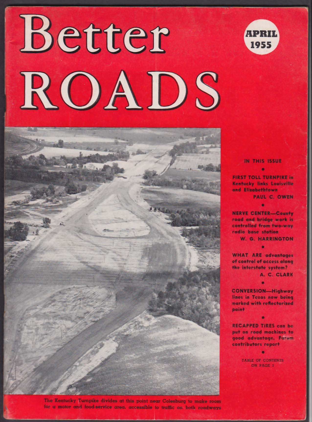 BETTER ROADS Kentucky Turnpike State Road Department Tri-State Turnpike + 4 1955