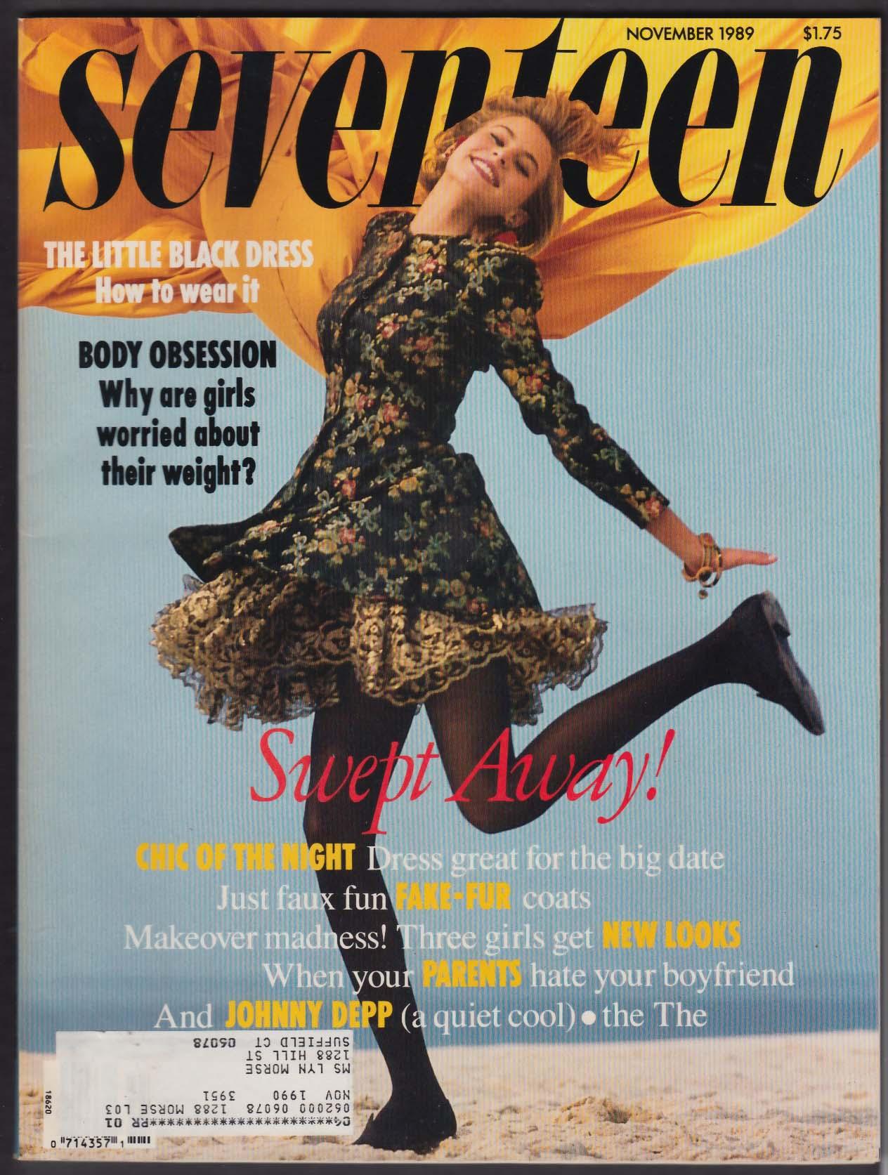 SEVENTEEN Niki Taylor Johnny Depp Henry Thomas Ethan Hawke 11 1989