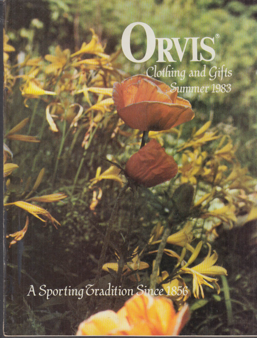 Orvis Clothing & Gifts Catalog Summer 1983 men's & women's wear optics, etc