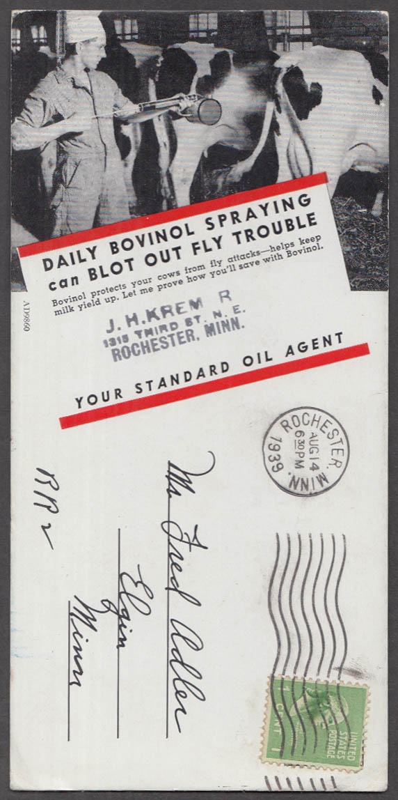 Daily Bovinol Spraying Can Blot Out Fly Trouble dairy farm blotter 1939