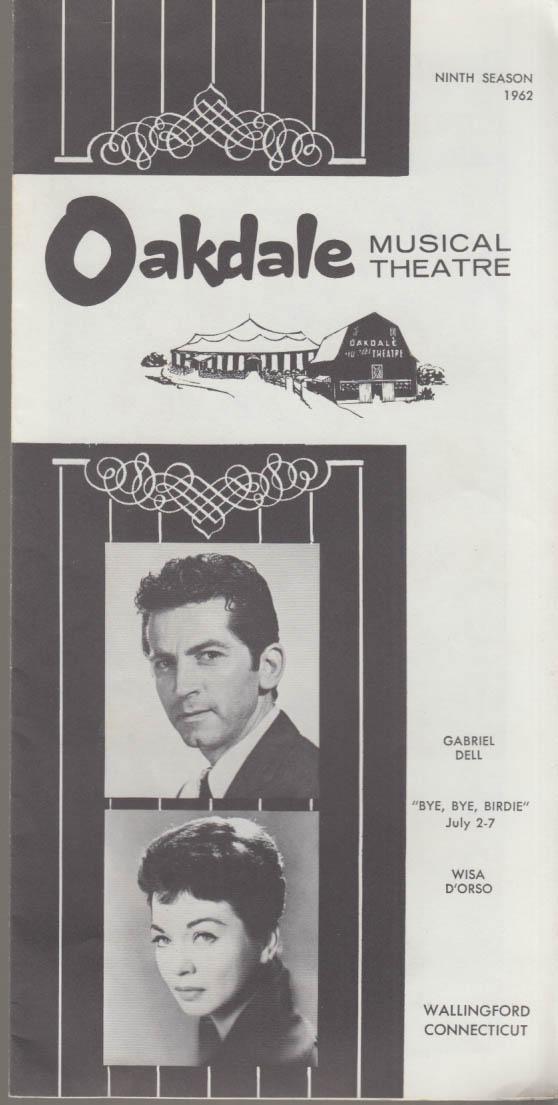 Gabriel Dell & Wisa D'Orsa in Bye Bye Birdie Oakdale Musical Theatre prgm 1962