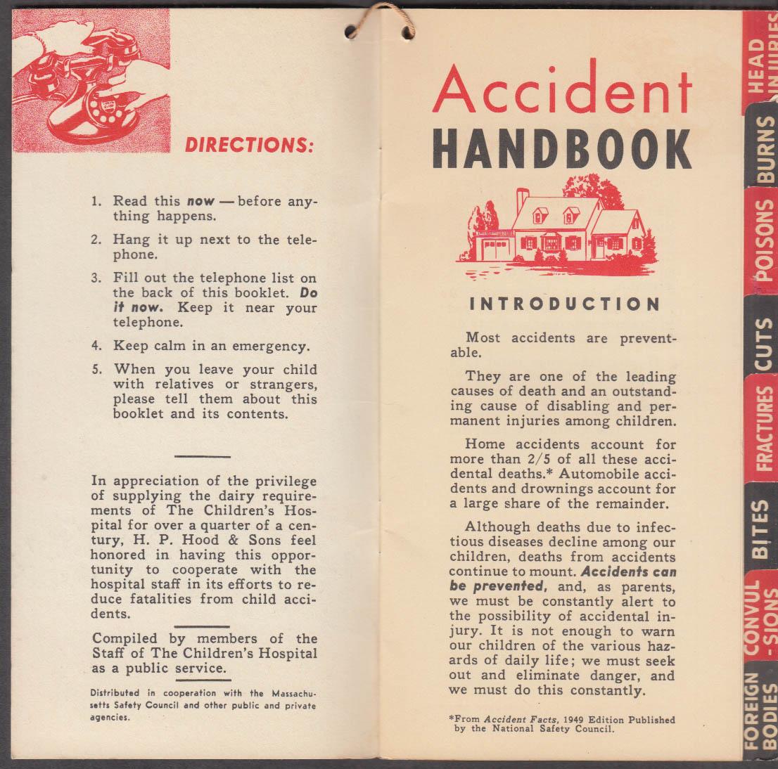 Children's Hospital Medical Center Accident Handbook Boston MA 1950