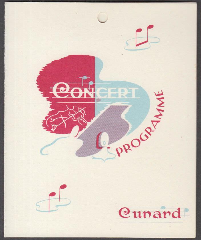 Cunard R M S Mauretania West Indies Cruise Variety Show Program 1962 magician +
