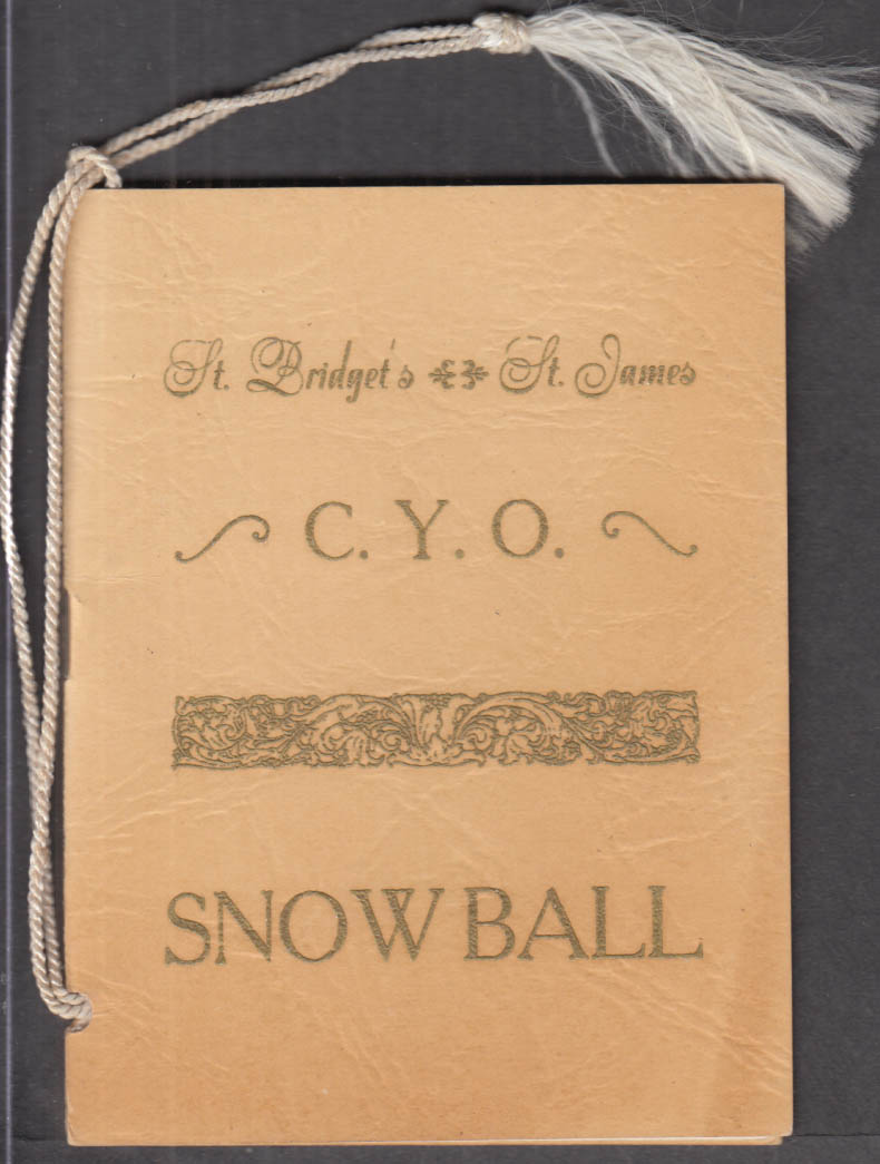 St Bridget's & St James CYO Snowball Dance Card Manchester CT 1954