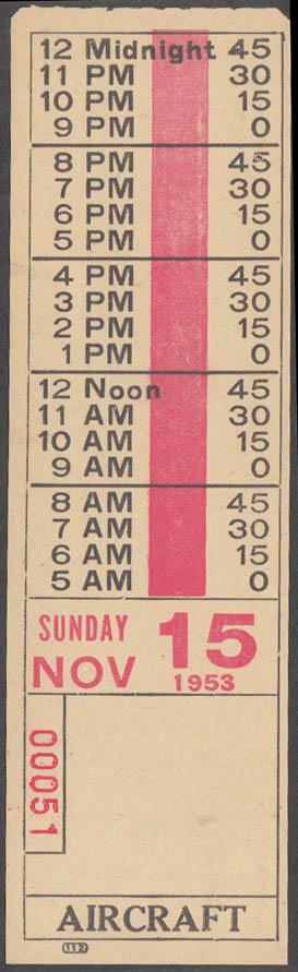 Akron Transportation Bus Transfer: Aircraft 11/15 1953 OH