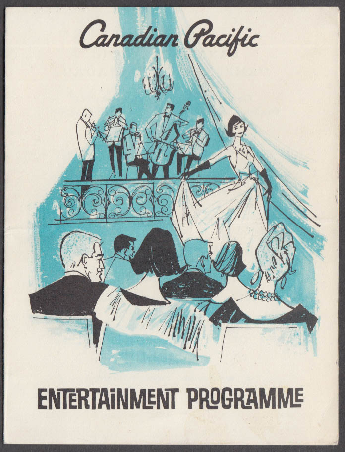 Canadian Pacific S S Empress of Canada Entertainment Programme 3/24 1968