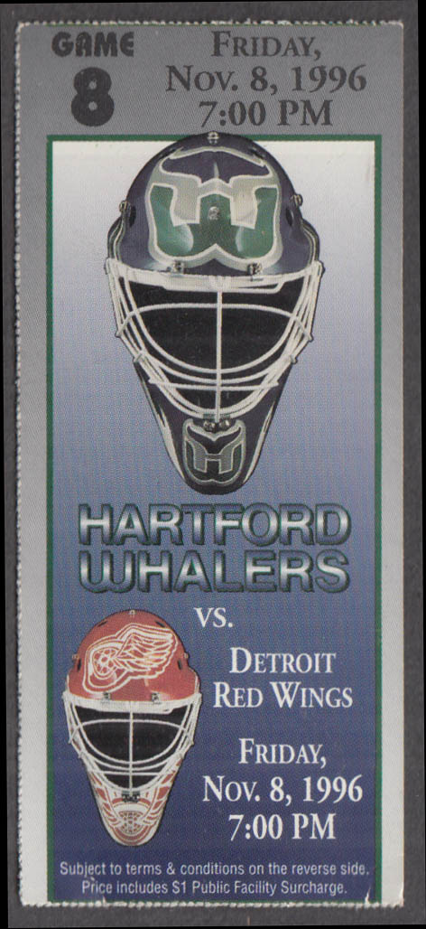 Hartford Whalers vs Detroit Red Wings ticket stub 11/8 1996