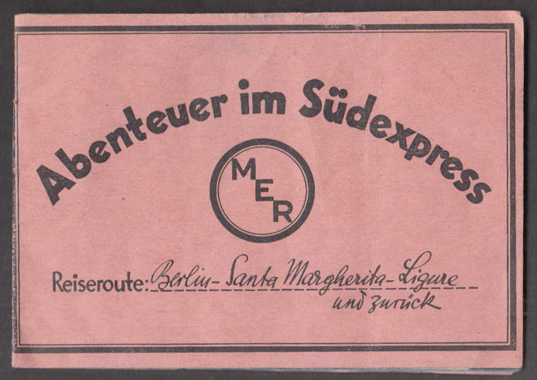 Abenteuer im Südexpress German movie promo booklet 1934