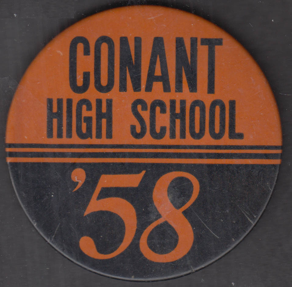 Conant High School '58 sports pinback button Hoffman Estates Illinois