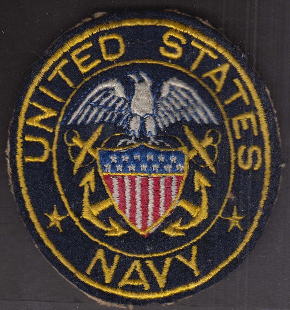 """United States Navy 4 1/8 x 3 3/4"""" wool embroidered uniform patch"""