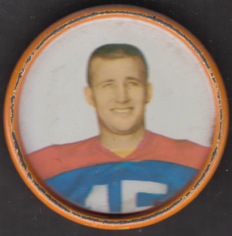 Buffalo Bills QB Warren Rabb Salada / Junket trading coin #151 1962