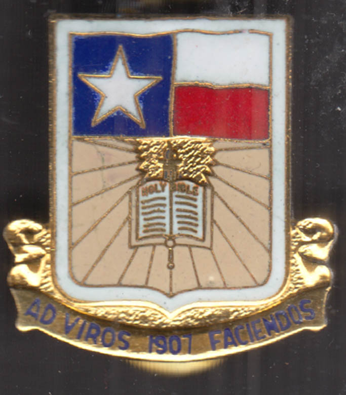 "Texas / US Army Unit Crest Insignia ""Ad Viros Faciendos 1907"""