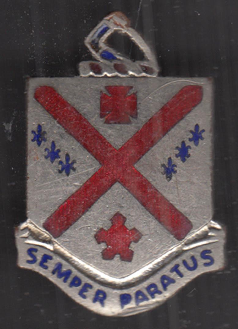 US Army 101st Regiment Unit Crest Insignia Semper Paratus
