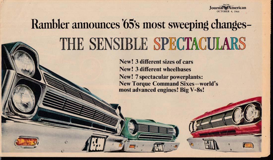 1965 AMC Rambler newspaper insert Ambassador Classic American