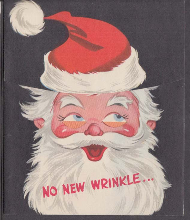 No New Wrinkle just Merry Christmas in a twinkle novelty greeting card 1950s