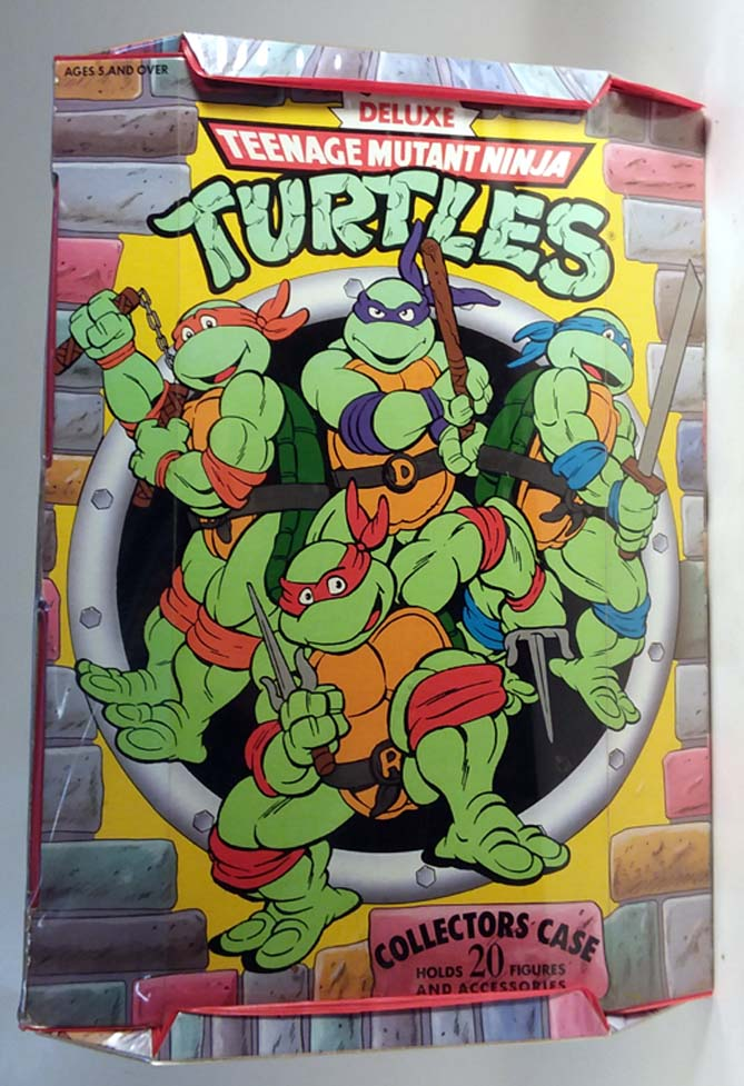 Deluxe Teenage Mutant Ninja Turtles Collectors Case 1990