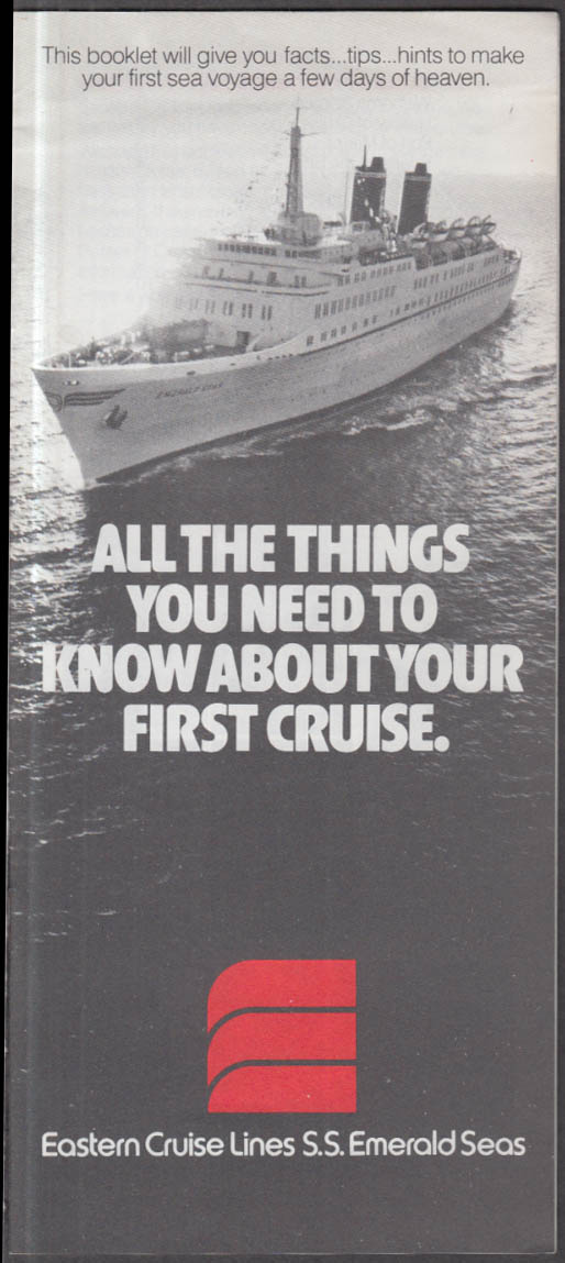 Eastern Cruise Lines S S Emerald Seas Things to Know About Your Cruise 1982