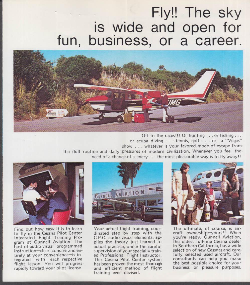 Gunnell Aviation Cessna Charter Fleet folder Santa Monica CA 1977