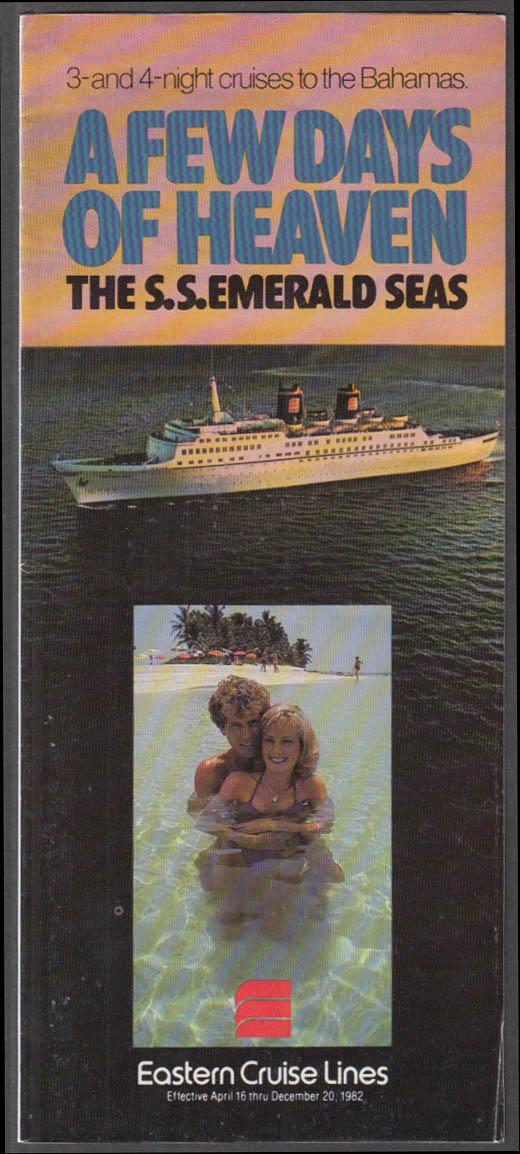 Eastern Cruise Lines S S Emerald Seas sales folder 1982