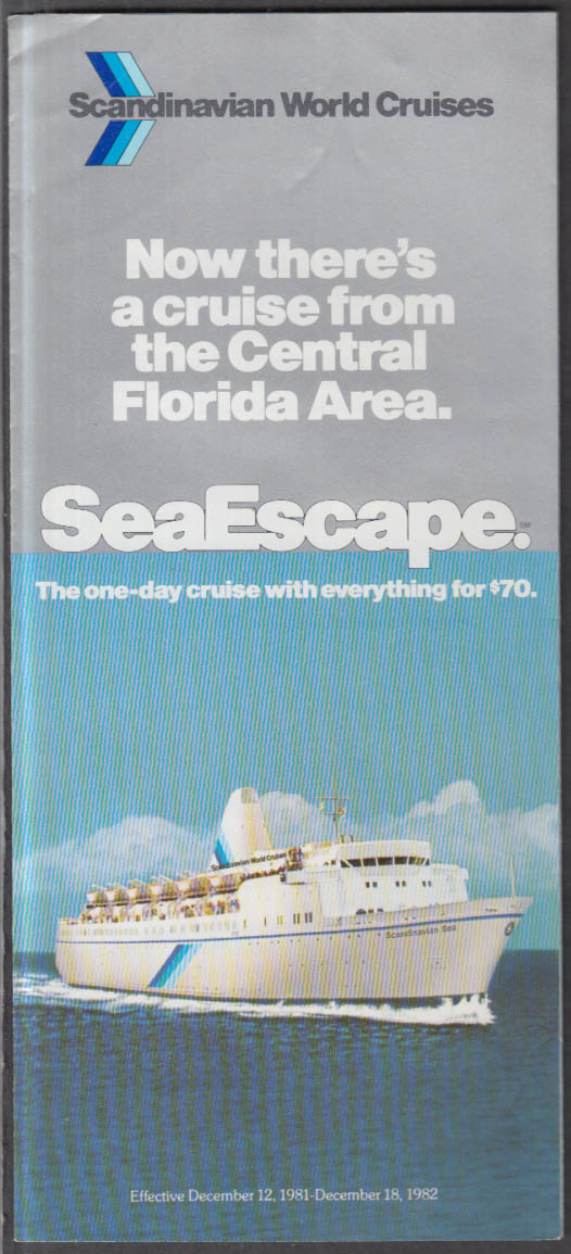 Scandinavian World Cruises M S Scandinavian SeaEscape folder 1982