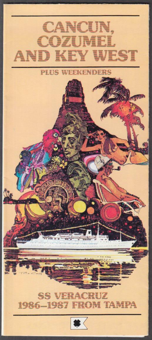 Bahama Cruise Line S S Veracruz Cancun Cozumel Key West Cruise Guide 1986-87