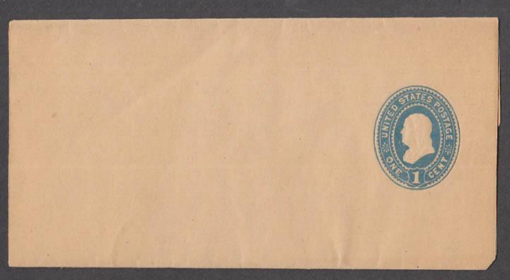 1899 U354 1c Green On Oriental Buff Mint Entire cover unused