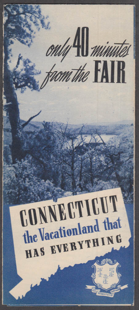 Image for Connecticut: Only 40 Minutes from the New York World's Fair visitor folder 1939