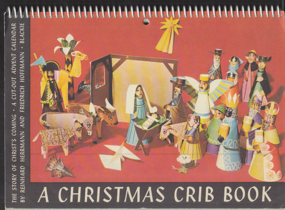 A Christmas Crib Book Cut-Out Advent Calendar unused 1961