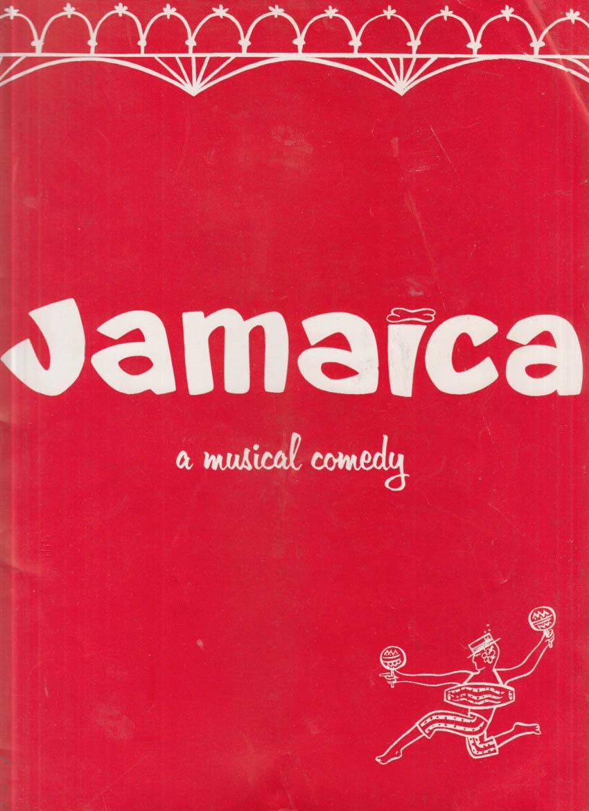 Jamaica Musical Comedy souvenir program Lena Horne Ricardo Montalban +