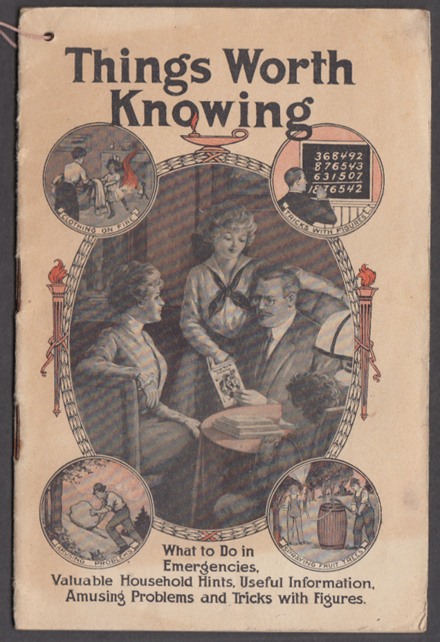 Dr Williams' Pink Pills Pinklets Remedies Things Worth Knowing booklet ca 1910