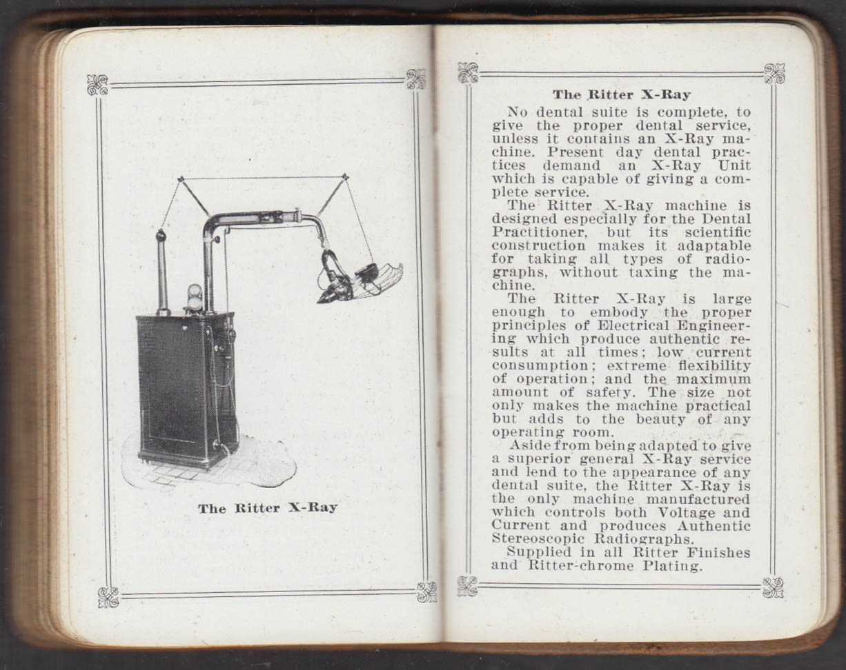 Ritter Dental Company Daily Reminder & Equipment Catalog 1929