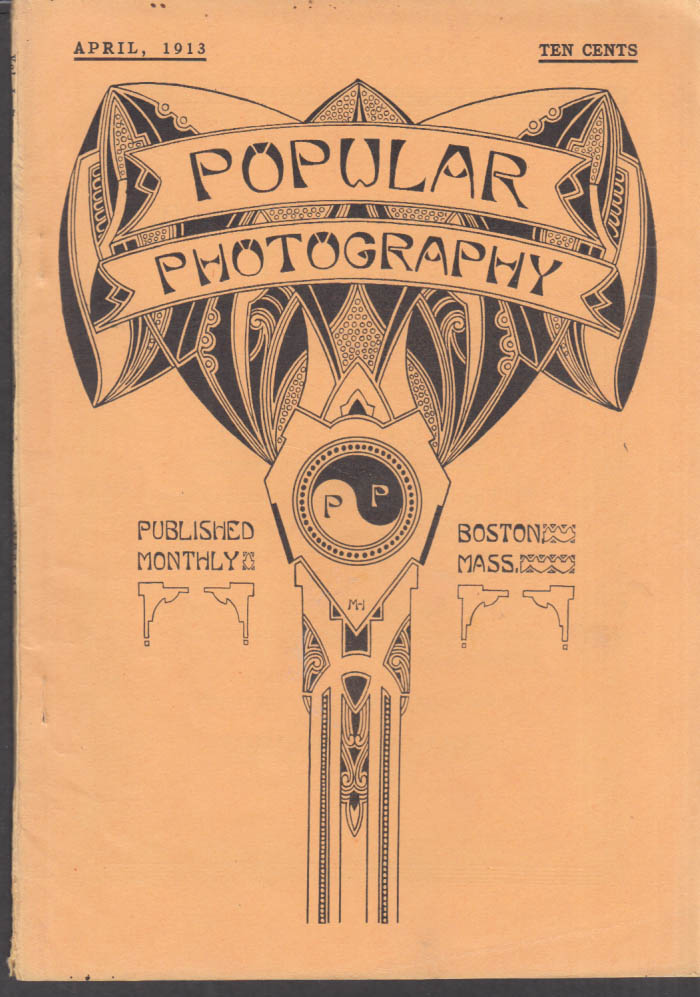 POPULAR PHOTOGRAPHY 4 1913 Flower photography; home-made pinhole camera