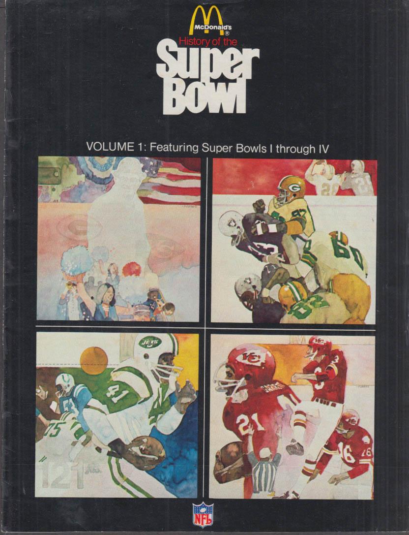 McDonald's History of the Super Bowl I-IX Volumes 1-3 complete