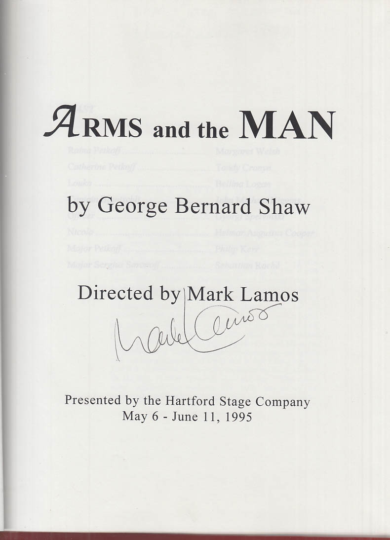 Hartford Stage Director Mark Lamos SIGNED Working Script Arms & the Man 1995