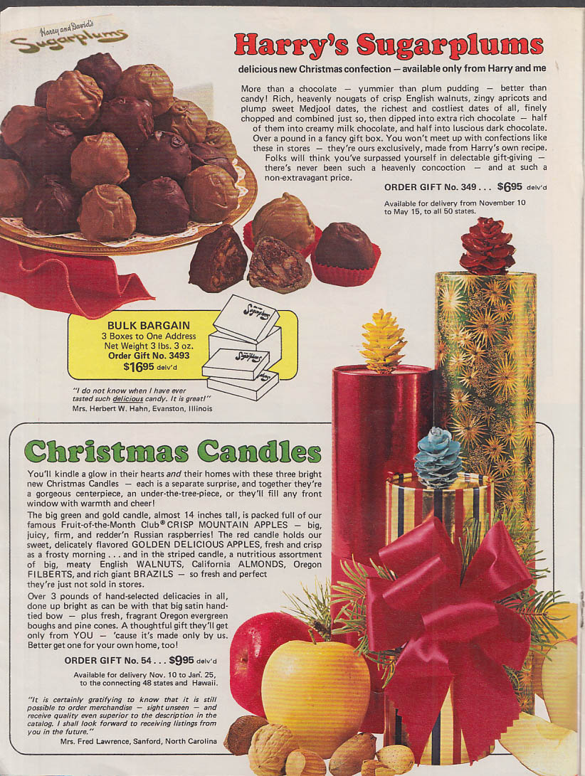 Harry & David's Christmas Book of Gifts catalog 1974