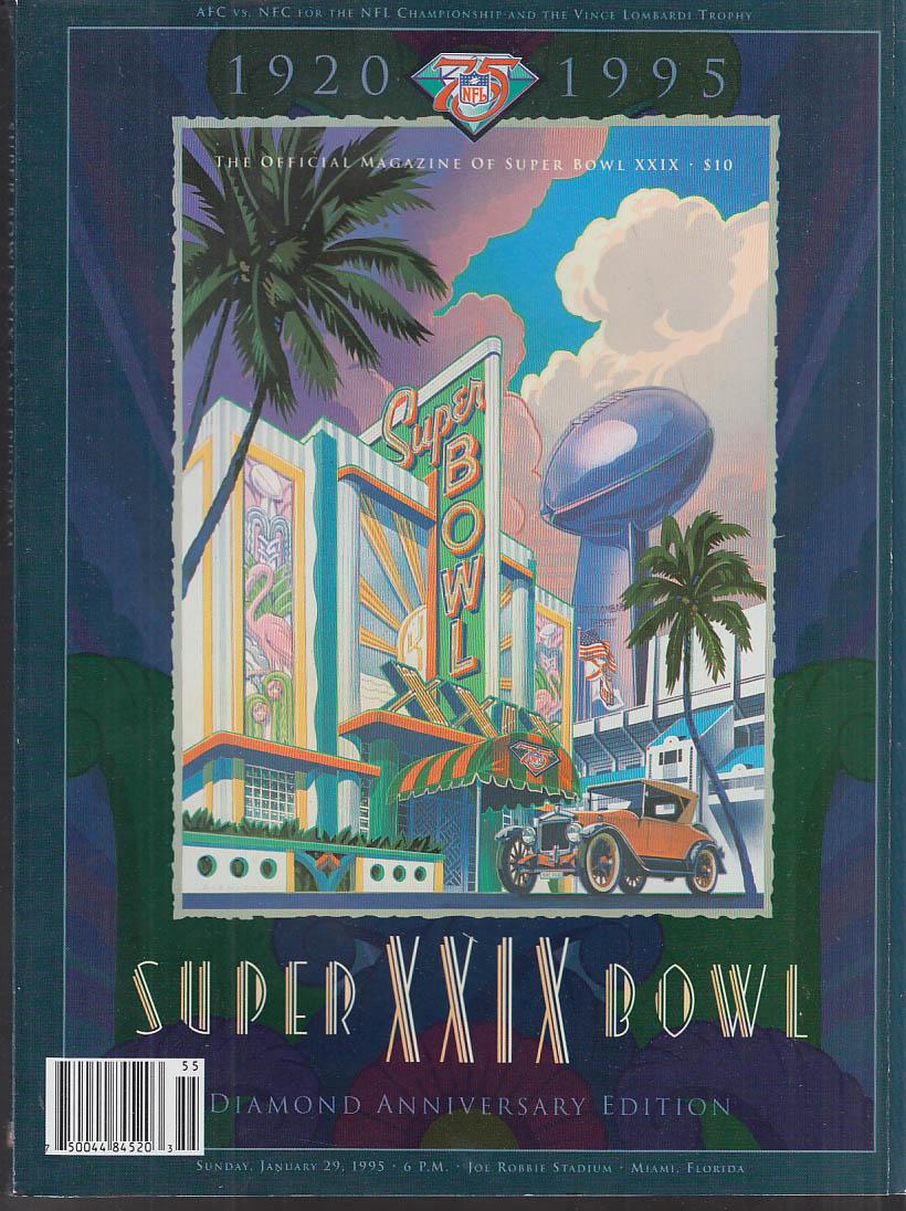 Super Bowl XXIX Official Program San Diego Chargers-San Francisco 49ers 1995